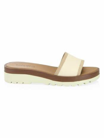 Robin Leather Slides