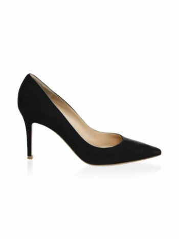 Suede Point Toe Pumps