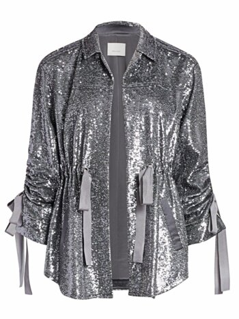 Mathieu Ruched Sequin Jacket