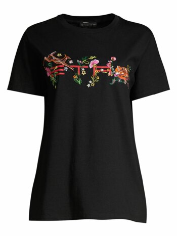 Bambi Embroidered Cotton Tee
