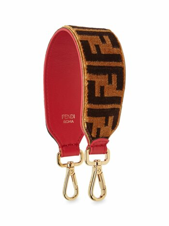 Leather Mini Strap You With Embroidered Velvet Stitch