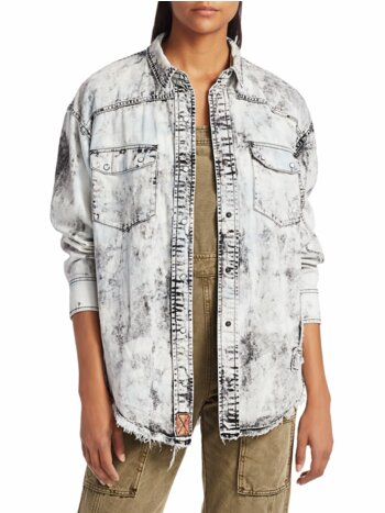 Lovestruck Acid Wash Denim Shirt