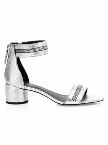Ortenne Zipper Leather Sandals