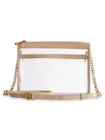 Game Day Collins Tuohy Smith x Gigi Leigh Anne Leather-Trim Translucent Crossbody Bag