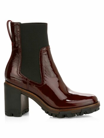 Shiloh Patent Leather Combat Boots