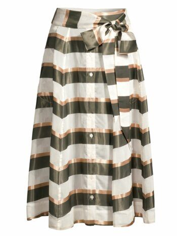 Stripe A-Line Beach Maxi Skirt