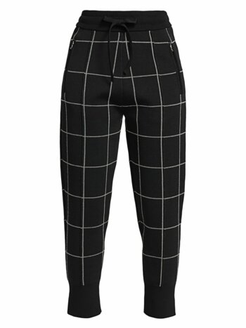 Double-Faced Check Joggers