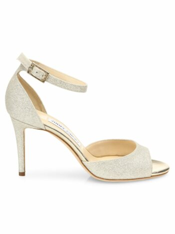 Annie Glitter d''Orsay Ankle-Strap Sandals
