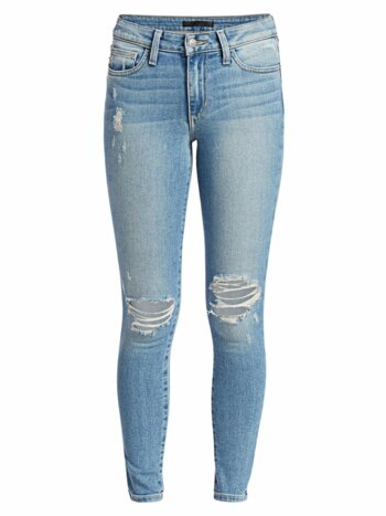 The Icon Distressed Ankle Skinny Jeans