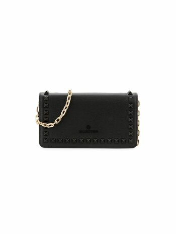 Ibty Studded Leather Shoulder Bag