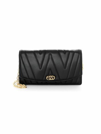 Emelie Quilted Leather Clutch