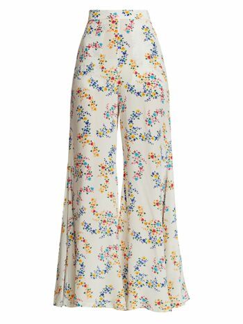 Coco Printed Wide-Leg Pants