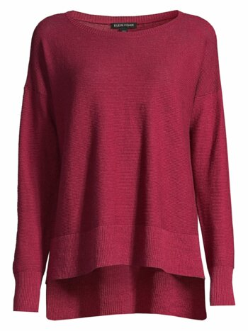 Organic Stretch-Linen Crepe Sweater