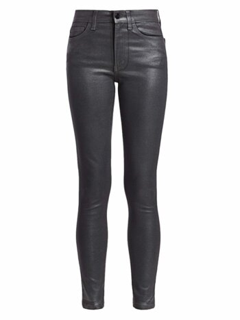 Charlie High-Rise Ankle Skinny Coated Jeans