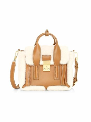 Mini Pashli Shearling & Leather Satchel