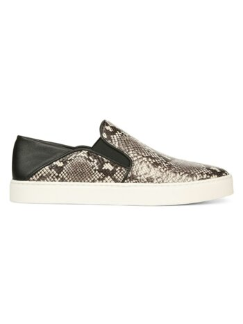Garvey Python-Embossed Leather Sneakers