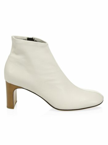 Ellis Leather Zip Booties