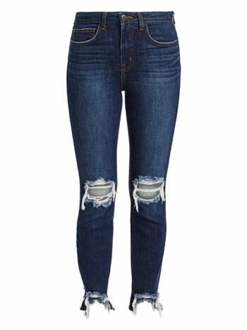 High Line Distressed Skinny Jeans
