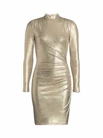 Hilary Ruched Metallic Bodycon Dress