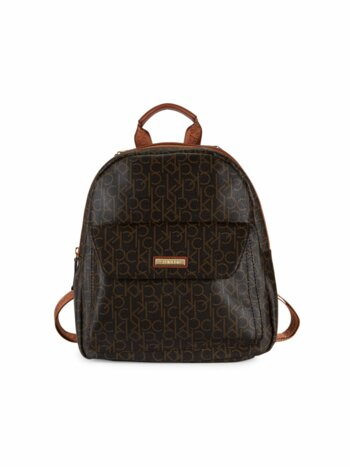 Monogram Faux Leather Backpack