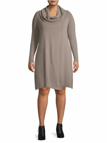 Plus Cowlneck Wool Tunic Sweater