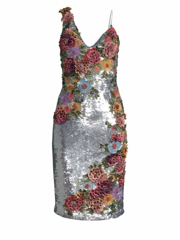Francie Floral-Embroidered Sheath Dress