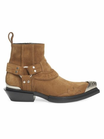 Santiag Harness Suede Western Boots