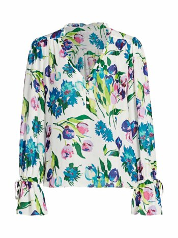 Cassidy Floral Silk Blouse