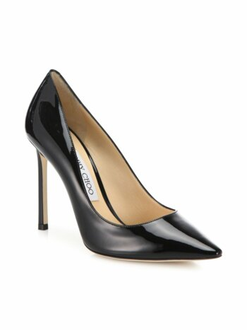 Romy Patent Leather Point Toe Pumps