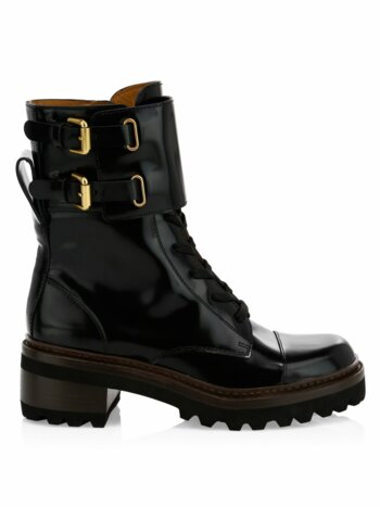 Mallory Leather Combat Boots