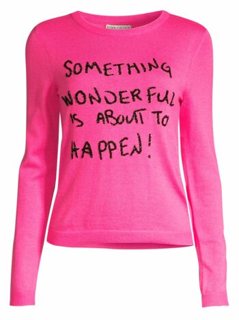 Connie Embellished Slogan Sweater