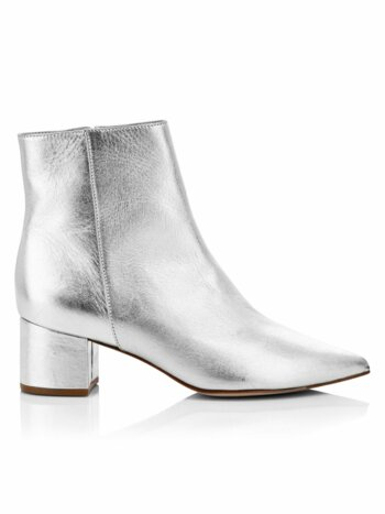 Carry Metallic Leather Ankle Boots