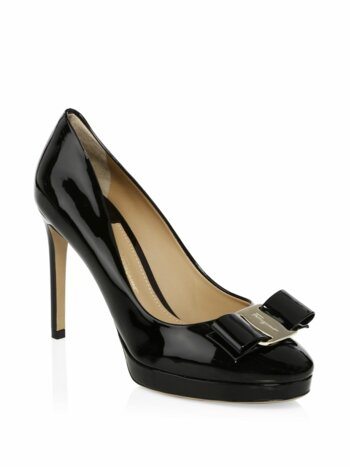 Osimo Patent Leather Bow Pumps