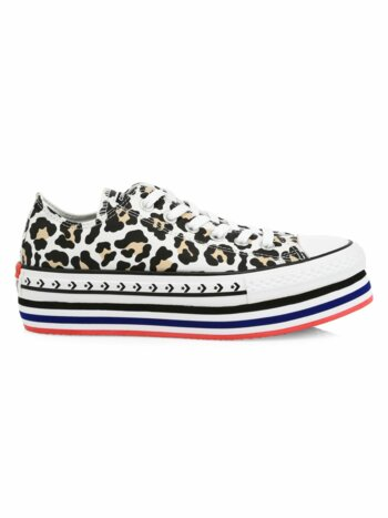 Logo Play Chuck Taylor All Star Lift Archival Leopard Low-Top Sneakers