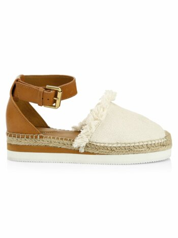 Glyn Leather & Cotton Espadrilles