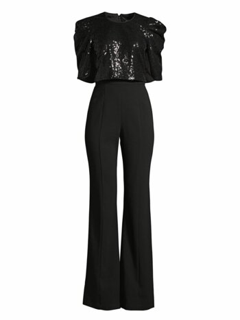 Teresa Combo Sequin Wide-Leg Jumpsuit