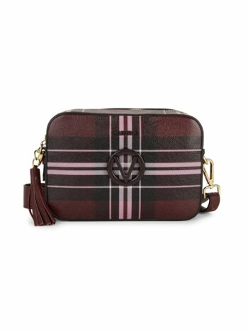 Barette Tartan Leather Camera Bag
