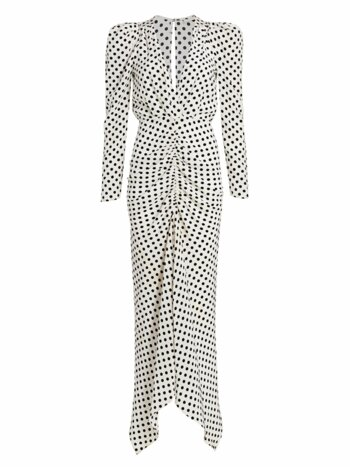 Astrid Polka Dot Puff-Sleeve Maxi Dress
