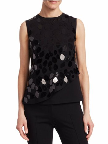 Leo Paillettes Sleeveless Top