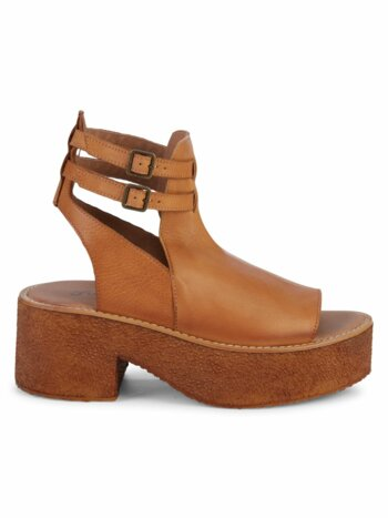Hallie Leather Platform Sandals