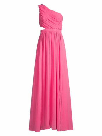 One-Shoulder Cutout Gown