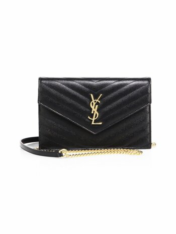 Small Monogram Mattelasse Leather Chain Wallet