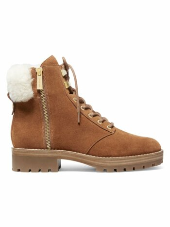Rosario Shearling-Lined Suede Hiking Boots