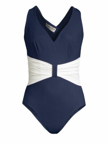 Claudy Gathered-Waist One-Piece Swimsuit