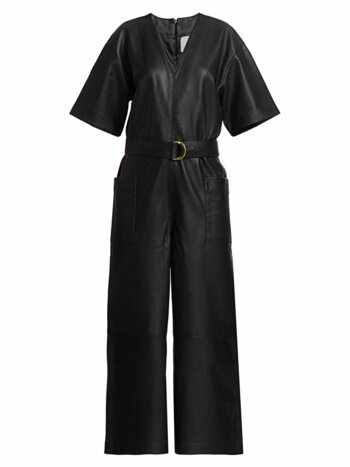Dalmine Leather Jumpsuit