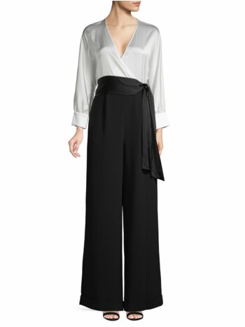 Colorblock Wide-Leg Jumpsuit