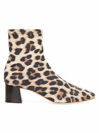 Tahlia Leopard-Print Suede Ankle Boots