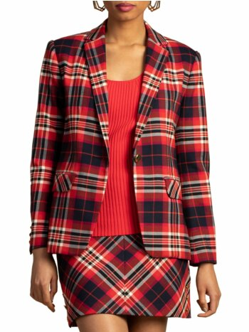 Pass the Wine Plaid Habanero Jacket