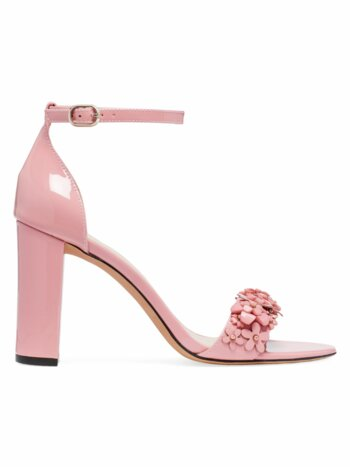 Paradisi Floral-Beaded Patent Leather Sandals