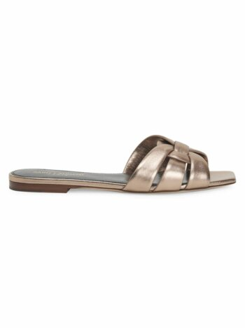 Tribute Metallic Leather Slides